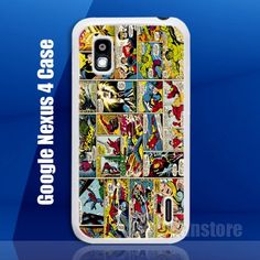 Marvel Comic Super Hero Google Nexus 4 Case Cover