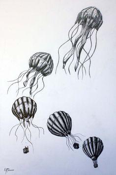 HOT AIR JELLYFISH by eddiekisosondi.deviantart.com on @deviantART