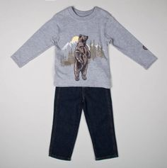Bear Long Sleeve Top and Pants - Infant Boys' Set Extravaganza - Events