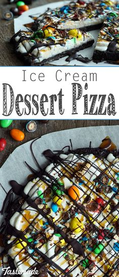 With Oreos, vanilla ice cream, hot fudge and M&M's, this might be the sweetest pizza ever.