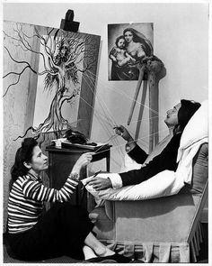 Salvador Dali and Gala, NY, 1947