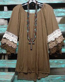 Brown Crochet Shirt