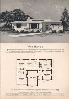 Practical Homes, Ed., Wm E. Pederson From the Association for Preservation Technology (APT) - Building Technology Heritage Library, an online archive of period architectural trade catalogs. Select an era or material era and become an architect Vintage House Plans, Modern House Plans, House Floor Plans, Vintage Houses, Villa, D House, Home Technology, Rural Area, The Sims