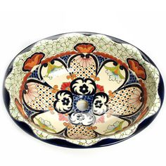 Contemporary Art Websites Mexican Juanetta Large Drop In Hand painted Bathroom Basin