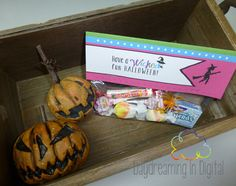 Digital File - Printable Halloween Treat Bag Topper - Trick or Treat $3.50