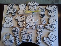 Baby shower coloring book cookies  By: msulli10