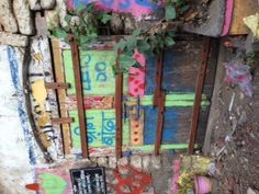 A little slice of boho art on the streets of Bombay..whats behind the doors