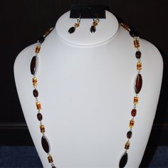 Brown Glass And Silver from Jewellery by Cloé for $15 on Square Market