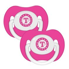 Texas Rangers 2 Pack Pink Pacifiers