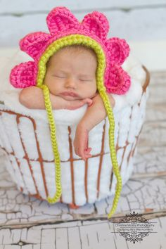 Crochet Flower Bonnet
