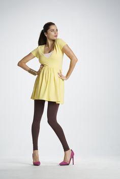 Brown Maternity Preggo Leggings - Fashion Shot