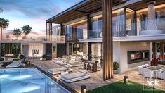 #modernvillaco #modern_villa_design #villa_design #modern_villa www.modernvillaco.com +989121050775 Design Villa Moderne, Modern Villa Design, Villas, Super Led, Conception Villa, Dubai, Nyc, Conceptual Design, Grand Staircase