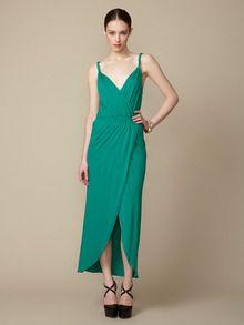 Geren Ford  Knotted Shoulder Maxi Dress
