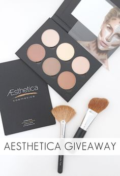 Beauty Tutorial: giveaway for my favorite Contouring Palette from Aesthetica Cosmetics! #giveaway #freebie