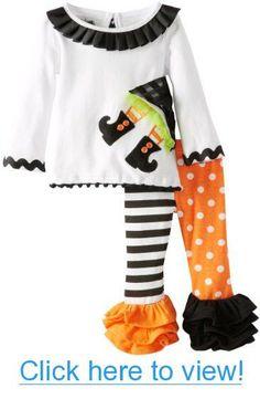 38469407 Mud Pie Baby-Girls Newborn Witch Tunic and Legging Set, Multi, 12-