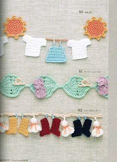 """... PATRONES Y GRÁFICOS CROCHET """": Puntilla para Baby Shower Crochet More"""