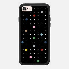 Pin Points Black - Classic Grip Case| #casetifyiphone7 #iphone7 #geometric #abstract #phonecase