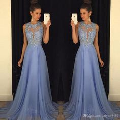 Bridesmaid Dresses 2016 Cheap Long For Weddings Lilac Chiffon Jewel Neck Lace…