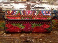 handbag leather embroidered clutch bag handmade by ColorsOfEtnika