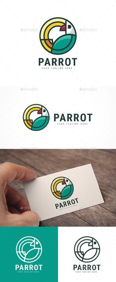 Bird Parrot Logo by Jue_ArtDesign FEATURES : Logos are vector based built in Illustrator software. They are fully editable and scalable without losing resolution.