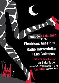 """Gente queremos pedir disculpas porque hemos escrito mal ( y por haberlos incluido en el flyer) el nombre de la banda que nos invito a tocar en La Plata, no fue con mala intención ni queremos ofender a nadie, a veces lo que para uno es primordial para otros no lo es y viceversa. Corregimos """"RADIO INTERSTELLAR"""" + eléctricos asesinos + LAS CULEBRAS ... una fecha mucho mas que increible!!! http://www.facebook.com/events/134434850028043/?ref=ts"""