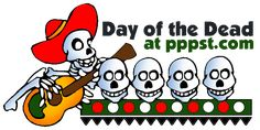 Day of the Dead for Kids & Teachers - FREE presentations in PowerPoint format, FREE interactive activities & games