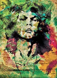 Jim Morrison  LSD trip  digital art