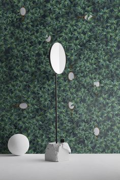 #Wallpaper: new graphics coordinated with Arblu colours Green, Colours, Wallpaper, Print Design, Wall Murals, Wall, Home Decor, Green Wall, Mirror