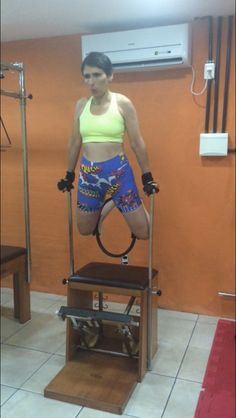 Flávia Assaife training Pilates
