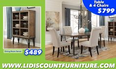 TABLE + 4 CHAIRS ONLY $799 #longislanddiscountfurniture #furniture #diningtable #diningroom #discount #countertable www.longislanddiscountfurniture.com