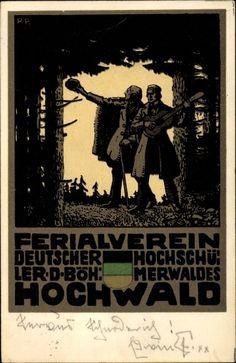 Künstler Litho Hochwald, Ferialverein Deutscher Hochschüler des Böhmerwaldes