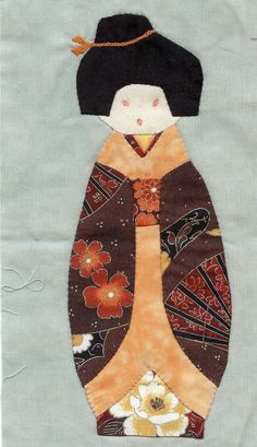 KOKESHI Japanese Doll #quilting - I probably would do this one as I love the Asian anything!!!!