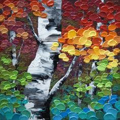 """Jewel Trees"" by Melissa McKinnon Acryl"