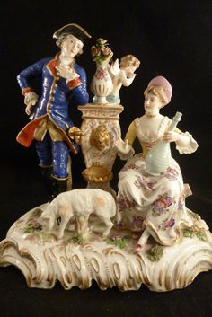 BEAUTIFUL LARGE  FIGURAL GROUP  Porcelain Meissen   in Pottery & Glass, Pottery & China, China & Dinnerware, Meissen | eBay