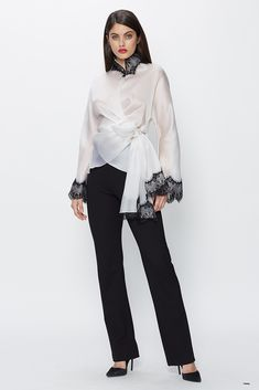 802fda9de36aa 100% Silk Satin Faced Organza Made In New York Dry-Clean Only Occasion Tops