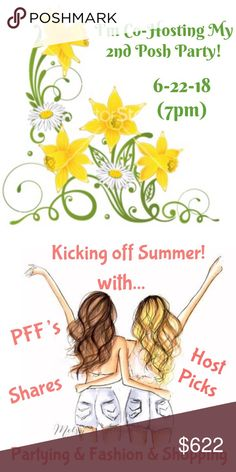 🏖June 22- Let's Welcome Summer With A Party🌻🎉 🌻☀️🌻☀️🌻 Hey ladies and gents... let's get together and say hello to summer! So happy to announce I'm hosting another party to kick off summer on June 22. Theme to be announced. I will be considering Host Picks from Posh compliant closets that have eye-catching cover photos. 👀 🌼 👀  Feel free to tag your favorite Poshers on this listing {Posh compliant closets ONLY}.  HOORAY for Sunshine and Posh Parties 🌻☀️🌻☀️🌻☀️ Posh Party Fun Other