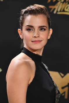 Emma Watson poses in the press room at the 2017 MTV Movie and TV Awards at The Shrine Auditorium on May 7, 2017 in Los Angeles, California.