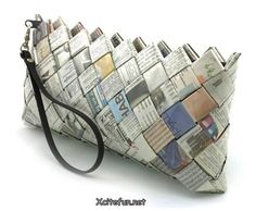 Possible use for our newspapers: Diy Newspaper wallet, for all the money we won't have.