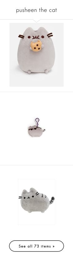 """""""pusheen the cat"""" by bring-me-the-neko ❤ liked on Polyvore featuring toys, filler, baby, other, stuffed animals, accessories, eyewear, sunglasses, plushies and home"""