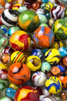 Colorful Glass Marbles Photograph by Gary Gay