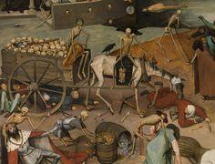 The Triumph of Death (detail), Pieter Bruegel the Elder ~ 1562 Art Mort, Pieter Brueghel El Viejo, Inferno Dan Brown, Medieval, Pieter Bruegel The Elder, Death Art, Hieronymus Bosch, Danse Macabre, Black Death