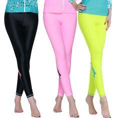 11b95eb038e95 Wetsuit Surfing Women s Swimming Pants Fitness Rash Guard Pants Woman Long  Swim Pants Womens Swim Jammers Legging Swimsuit UPF50+
