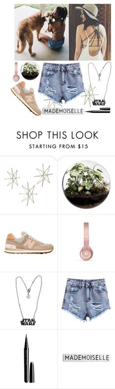 """""""just be casual with the tank and my dogs"""" by fashionvivianguo ❤ liked on Polyvore featuring Home Essentials, New Balance, Beats by Dr. Dre and Marc Jacobs"""
