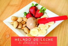 Delicioso Helado de Leche de Almendra con Banano!!