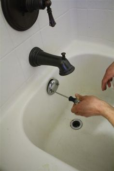 How to remove an old bathtub trim kit and replace with a new oil-rubbed bronze version.