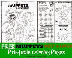 Muppets Coloring pages Coloring pages for kids Pinterest
