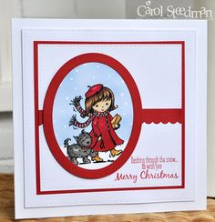 Inky Fingers: Stampavie Looking Chic Christmas card