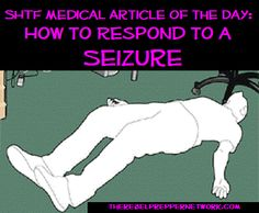 SHTF Medical Article of the Day: How to Respond to a Seizure. In Honor of National Epilepsy Awareness month. Emergency First Aid, Emergency Preparation, Emergency Medicine, In Case Of Emergency, Emergency Care, Disaster Preparedness, Survival Prepping, Survival Stuff, Survival Skills