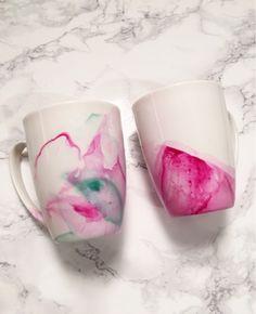 DIY Watercolor Mug - Working Mom Magic