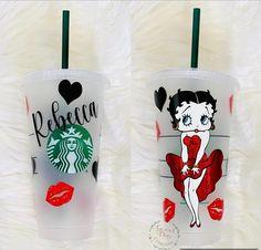 Personalized Starbucks Cup, Custom Starbucks Cup, Personalized Coasters, Starbucks Tumbler, Bedazzled Bottle, Starbucks Crafts, Starbucks Cup Design, Cheap School Bags, Homemade Crafts